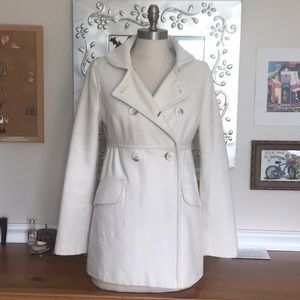 American Eagle off white coat